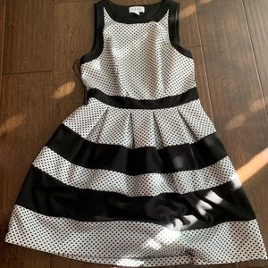 Elle Dresses - ELLE polka dot A line Dress